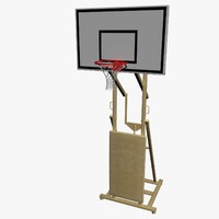 real basketball hoop 3d max
