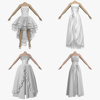 3d model dresses wedding