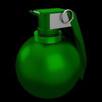 m67 fragmentation hand grenade 3d model