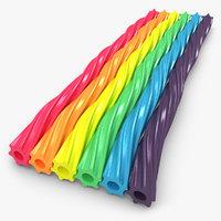 twizzlers rainbow 3d max