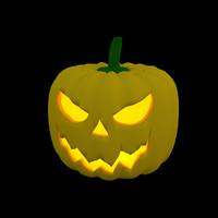 3d halloween pumpkin jack o model