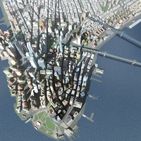 3d c4d new york city skyline