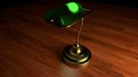 3d model lamp green