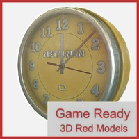 ready vintage wall clock 3d obj