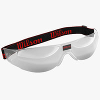 racquetball goggles wilson 3d model