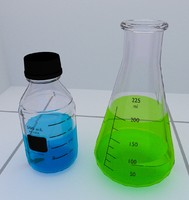 3d lab laboratory flask model