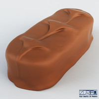 bounty chocolate bar 3d max