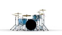 3d model of drum cymbals