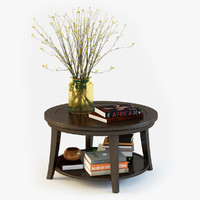 3d pottery barn metropolitan coffee table model