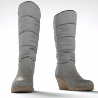 winter wedge boot obj