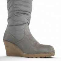 winter wedge boot 3d obj