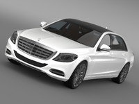 maybach mercedes benz s 3d max