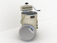 old washing machine 3d model