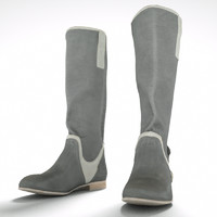 White / Grey Boots