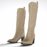 maya beige leather boots