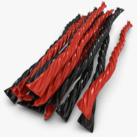 3d 3ds licorice candy twists