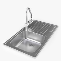Dorado Kitchen metal sink with faucet