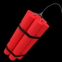 3d model dynamite explosive pack uv-unwrapped