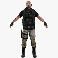 3d model mercenary soldier