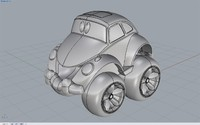 3d model buggy toy car