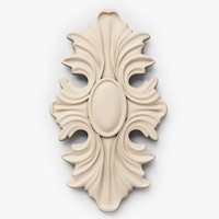 classical decoration ornamental interior wall 3d 3ds
