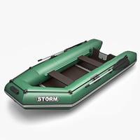3d model of boat storm
