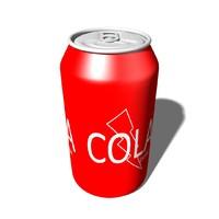aluminum cola 3d obj