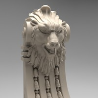 3d scroll volute lion