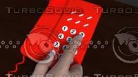 3d model phone dialing