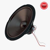 3d model realistic speaker
