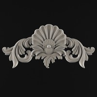 3d model ornament cartouches plaster