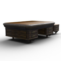 3d model low-poly antique table cabinet