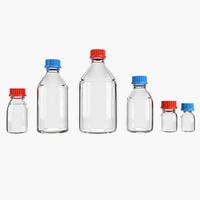 lab bottles 3d model