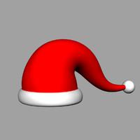 3d christmas cap model