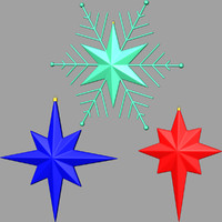 christmas stars fbx