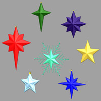 3ds max stars christmas