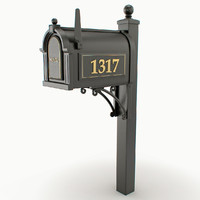 3d model mail box post