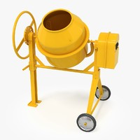 3d concrete mixer model