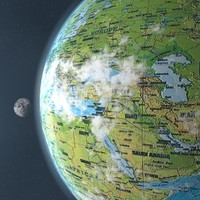 3d planet earth moon globe