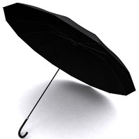 black umbrella 3d model