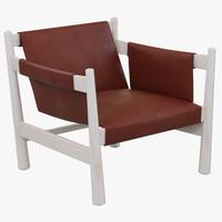 baxter bolivar armchair 3d model