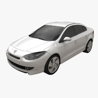 3d renault fluence gt rigged car