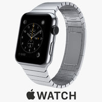 3d model apple watch 42mm stainless steel