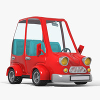 3d toon cartoon car