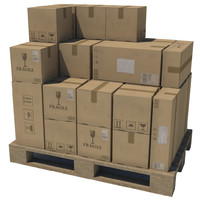 Pallet with boxes (4 in 1)