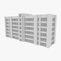 apartment building interior 3d model