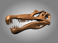 free max mode dinosaur skeleton skull spinosaurus