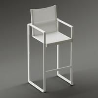 3d model of bar chair 43 alr