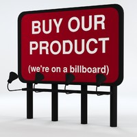 billboard uv-unwrapped 3d model
