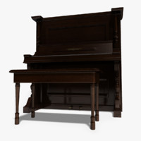 chickering piano 3d obj